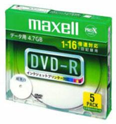 1-16倍速対応 データ用DVD-Rメディア (4.7GB・5枚) DR47WPD. S1P5SA