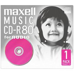 音楽用CD-R 80分 ピンク(1枚パック) CDRA80D. PK.1J