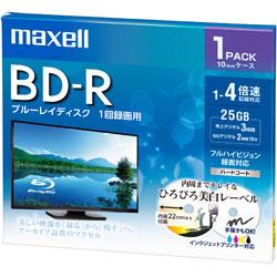 録画用BD-R 1〜4倍速 1枚 130分/1層25GB 【インクジェットプリンター対応】 BRV25WPE.1J