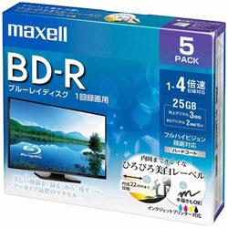 録画用BD-Rホワイトディスク 4倍速5枚パック BRV25WPE.5S
