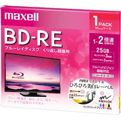 録画用BD-RE 1〜2倍速 1枚 130分/1層25GB 【インクジェットプリンター対応】 BEV25WPE.1J