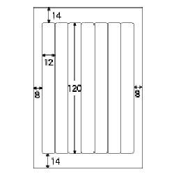OP1904-N(ファイルタック7/ホワイト/再剥離/はがきサイズ/7面/10シート/70片)