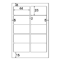 OP1905N(ファイルタック10/ホワイト/再剥離/はがきサイズ/10面/10シート100片)