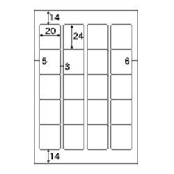 OP1907-N(インデックスタック20/ホワイト/再剥離/はがきサイズ/20面/10シート/200片)