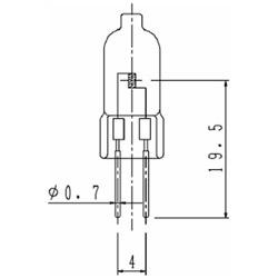 LR001920 非常灯用ハロゲン電球 クリア [G4 /1個]