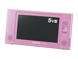 5V型防水ワンセグポータブルテレビ(録画機能搭載) フローラルピンク SV-ME580-P   [防水対応]