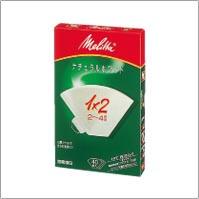 PA1×2 フィルターペーパー ナチュラルホワイト 1×2(2〜4杯用・40枚入)