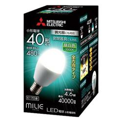 調光器対応LED電球 (小形電球形・全光束480lm/昼白色相当・口金E17) LDA5N-G-E17/40/D/S