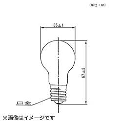 電球 ミニクリプトン電球 LDS100/110V54WCK クリア [E17 /1個 /一般電球形 /全方向タイプ]