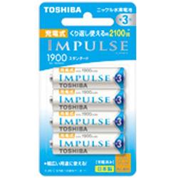 東芝 TOSHIBA TNH-3ME 単3形 充電池 IMPULSE(インパルス)スタンダードタイプ [4本]