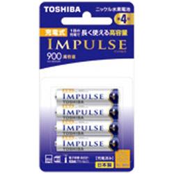 東芝(TOSHIBA) 【単4形ニッケル水素充電池】 4本 「IMPULSE」(高容量タイプ) TNH-4AH 4P