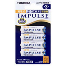 東芝(TOSHIBA) 【単3形】ニッケル水素充電池「IMPULSE」(4本入り)TNH-3A 4P