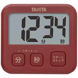 デジタルタイマー 「薄型タイマー」 TD-408-RD レッド