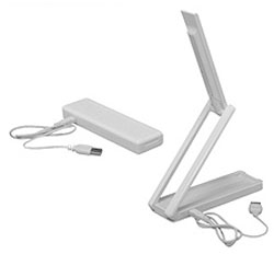乾電池式ポータブルLEDライト LSM-55 ホワイト