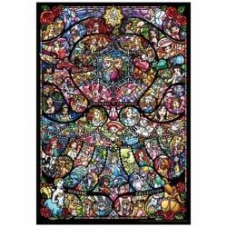 ピュアホワイトジグソーパズル DP-1000-028 ディズニー&ディズニー/ピクサー ヒロインコレクション ステンドグラス