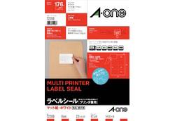 72208(ラベルシール/プリンタ兼用/マット紙/ホワイト/A4/8面/四辺余白付)