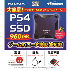 IO DATA(アイオーデータ) PS4対応 外付けSSD 960GB [HNSSD-960NV]