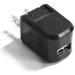 スマートフォン対応[USB給電] AC - USB充電器 (ブラック) AJ-379