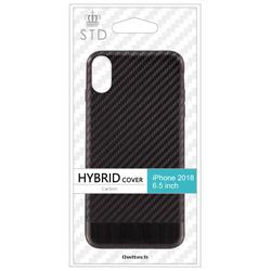 iPhone XS Max 6.5インチ対応ハイブリッドケースカーボン調ブラック OWL-CVIA6509-CBBK OWL-CVIA6509-CBBK