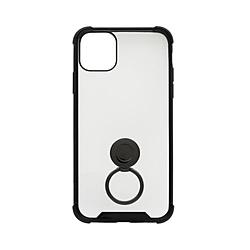 iPhone 11 Pro Max 6.5インチ 用 リング付耐衝撃ケース OWL-CVIB6507-BK ブラック