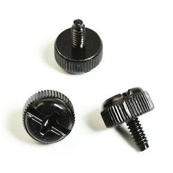 ハンドルネジ インチタイプ グリップ部: 直径10mm/ネジ #6-32x8mm ブラック 6個入 OWL-NEJI25B
