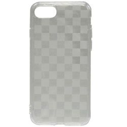 iPhone 7用 gufo TPUケース クリア ストラップホール付 チェッカード OWL-CVIP716CD-CL