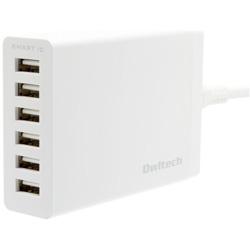 タブレット/スマートフォン対応[USB給電] AC - USB充電器 12A (1.5m・6ポート) OWL-ACU6C12S-WH ホワイト