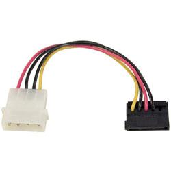 SATA用電源変換ケーブル 12cm 4ピン電源コネクタ(大/オス) ⇔ SATA下L型15ピン(メス) OWL-CBPU045