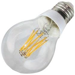 調光器非対応LED電球 「デコ・フィラメント バルブ」(全光束500lm/赤系電球色・口金E26) JA26F6RL