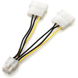 4ピン(大)→PCI Express接続VGA用6ピン変換ケーブル GN-PW006EX