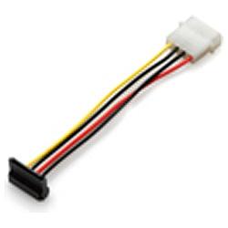 4ピン(大) → SATA用15ピン変換ケーブル(下L型) GN-PW010SAL