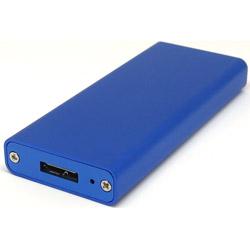 M2-CASE-U3G1-BL (M.2 SSD用アルミケース/ブルーメタリック)