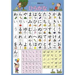 Large Japanese Hiragana Bath Poster