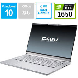 mouse(マウスコンピュータ) ノートパソコン DAIV  BC-DAM16S5IDG165-203 [15.6型 /intel Core i7 /SSD:512GB /メモリ:16GB]