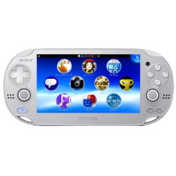 [使用]的PlayStation Vita的(的PlayStation Vita的)的Wi-Fi版冰银[PCHJ-10007]