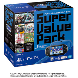 PSVita Super Value Pack Wi-Fiモデル ブルー/ブラック