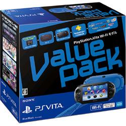 [Used] PlayStation Vita (PlayStation Vita) Value Pack Wi-Fi model blue / black [PCHJ-10022]