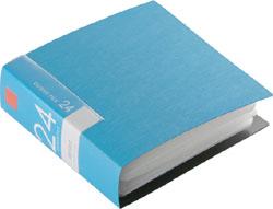 BSCD01F24BL (CD/DVDファイル/ブックタイプ/24枚収納/ブルー)
