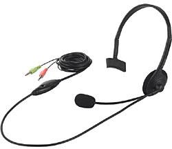 BSHSH05BK (ヘッドセット/φ3.5ミニプラグ/片耳ヘッドバンド式)