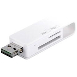どっちもUSBコネクター採用 SD専用カードリーダー/ライター(ホワイト) BSCRD05U2WH