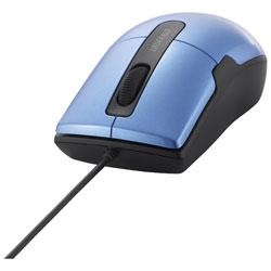 有線BlueLEDマウス[USB 1.5m・Mac/Win] BSMBU26SMシリーズ 静音 Mサイズ (3ボタン・ブルー) BSMBU26SMBL PS5対応 【Windows10動作対応】