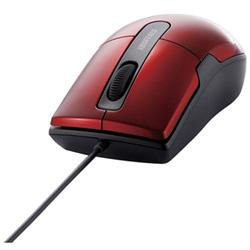 有線マウス[BlueLED・USB 1.5m・Mac/Win] BSMBU26SMシリーズ 静音 Mサイズ (3ボタン・レッド) BSMBU26SMRD PS5対応 【Windows10動作対応】