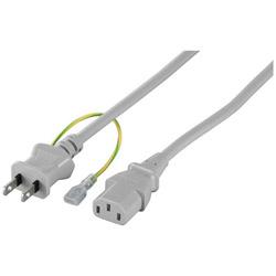 BSACC0620GYA(グレー) 電源ケーブル 3ピンソケット(メス)⇔2ピンプラグ(オス) 2.0m