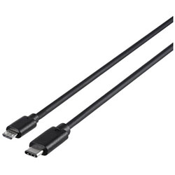 1.0m[USB-C ⇔ USB microB]2.0ケーブル 充電・転送 ブラック BSUMBC210BK