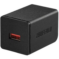 タブレット/スマートフォン対応[USB給電] AC - USB充電器 2.4A ブラック BSMPA2402P1BK [1ポート /Smart IC対応]