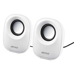 バッファロー PC用スピーカー USB電源 ホワイト BSSP29UWH 1台 [8503]