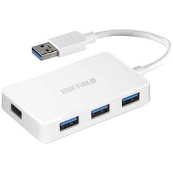 バッファロー USB3.0バスパワーハブ 4ポートタイプ ホワイト BSH4U100U3WH 1台