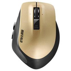 BSMLW500MGD(ゴールド) 無線レーザーマウス [2.4GHz・USB・Win/Mac] BSMLW500Mシリーズ (5ボタン・ゴールド)