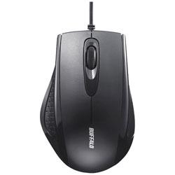 BSMRU050BK 有線IR LED式マウス[USB 1.25m・Mac/Win](3ボタン・ブラック)