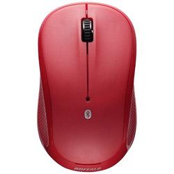BSMRB058RD ワイヤレスIR LEDマウス[Bluetooth・Android/Mac/Win](3ボタン・レッド)